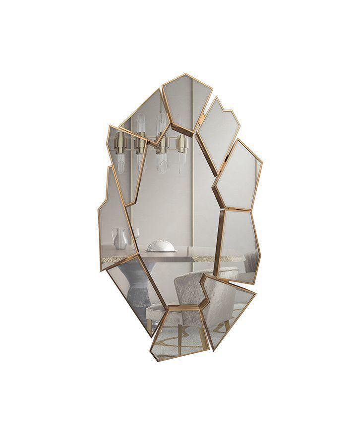 Настенное зеркало CRACKLE