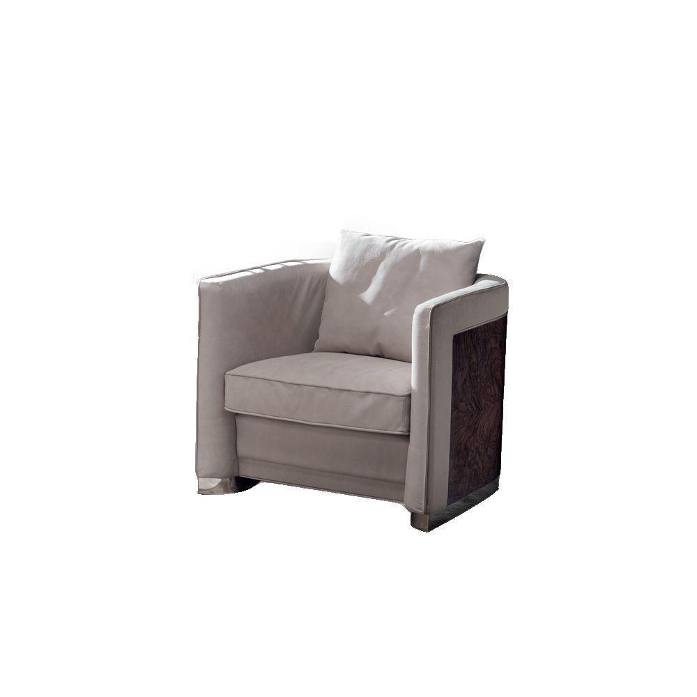 Кресло с декоративной подушкой и изогнутой спинкой Absolute (фото)