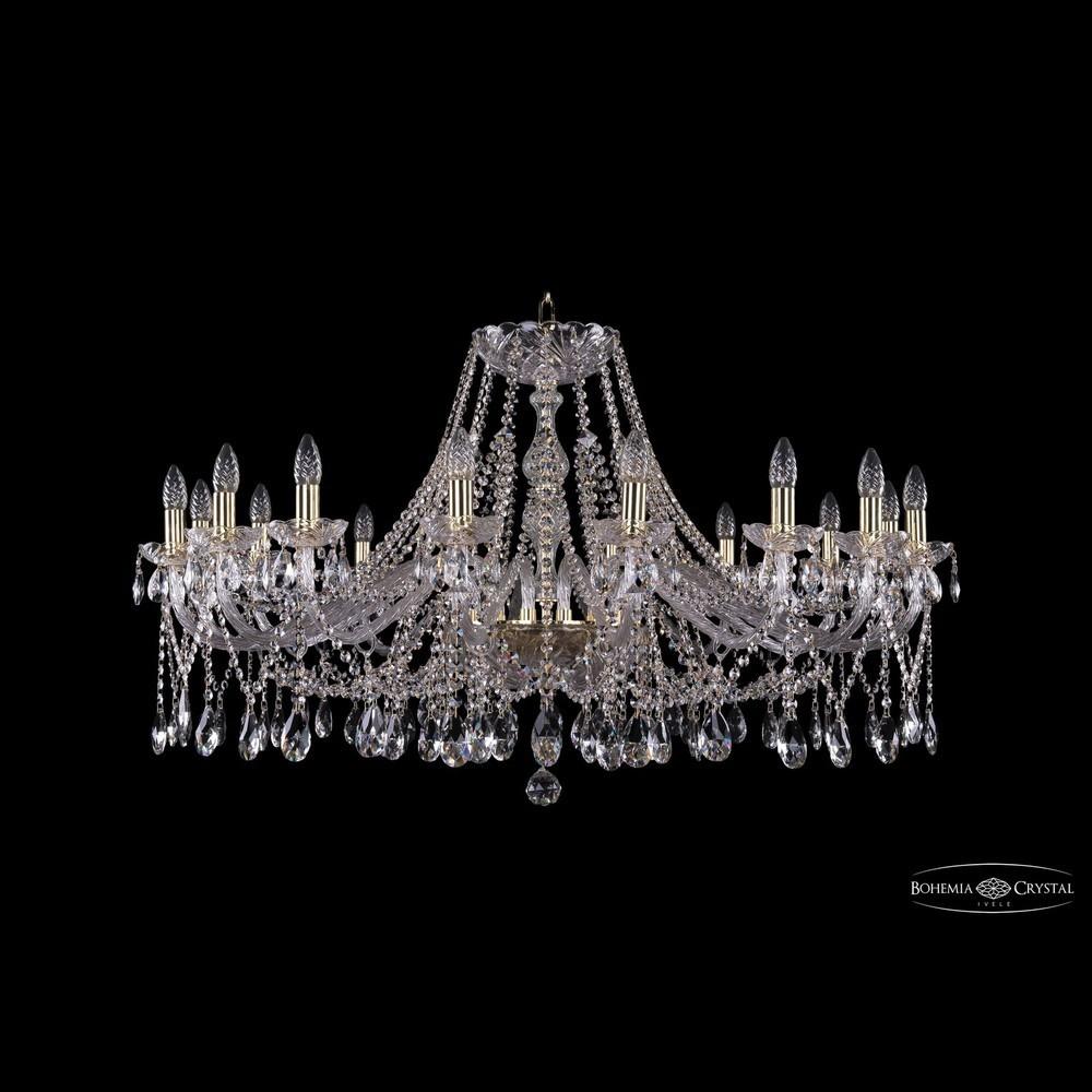 Люстры Большие Bohemia Ivele Crystal Люстра хрустальная 1413/16/400 G