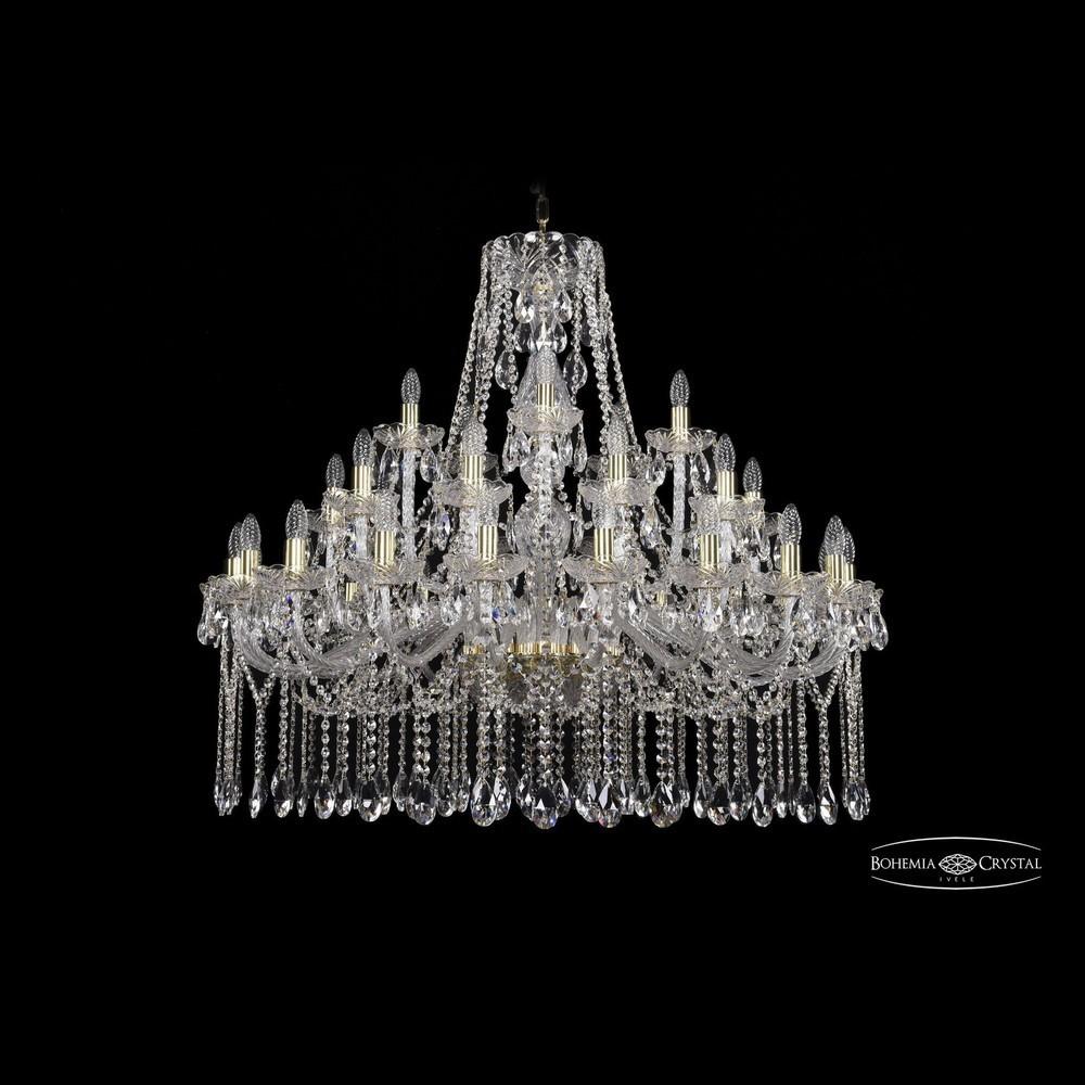 Люстры Большие Bohemia Ivele Crystal Люстра хрустальная 1413/20+10+5/400 G