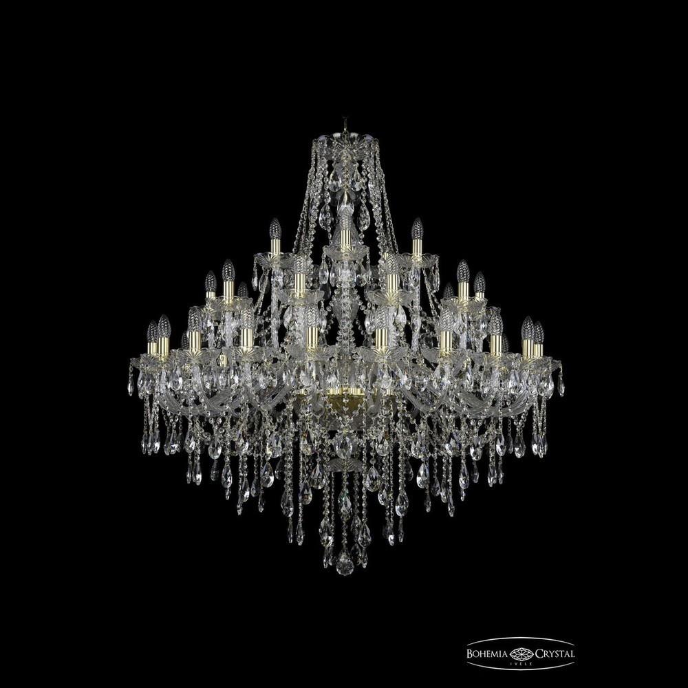 Люстры Большие Bohemia Ivele Crystal Люстра хрустальная 1415/20+10+5/400 G