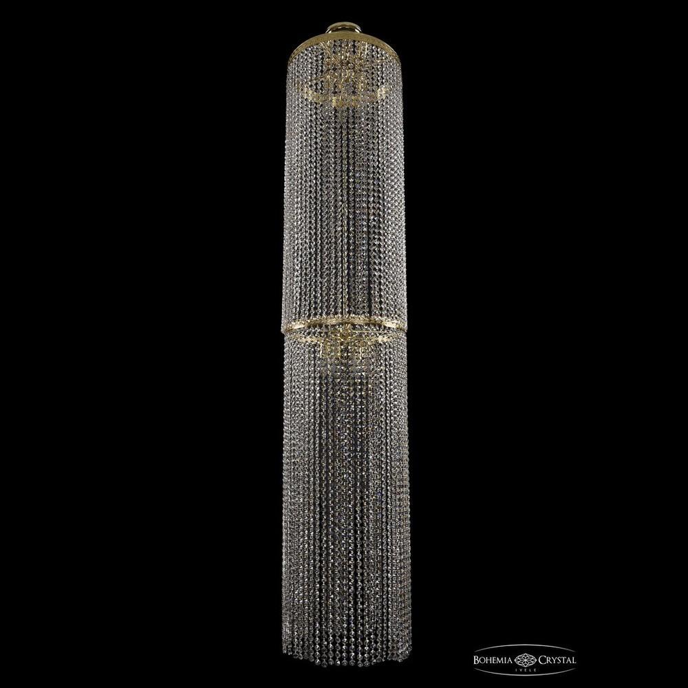 Люстры Большие Bohemia Ivele Crystal Люстра столб 2140/40-200 G