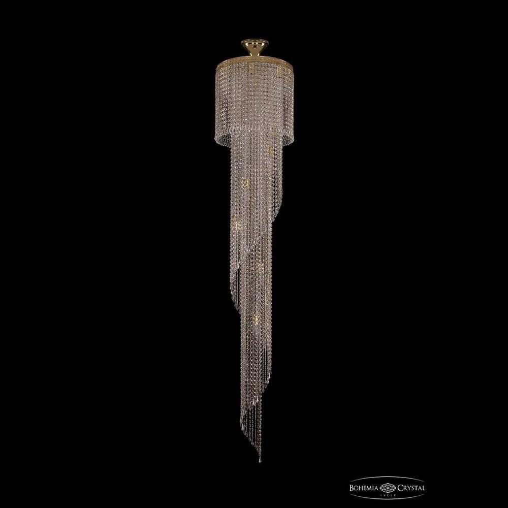 Люстры Большие Bohemia Ivele Crystal Люстра спираль 8311/40-200 G