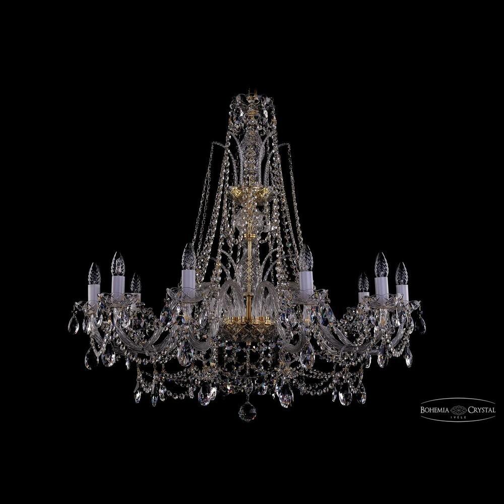 Люстры Большие Bohemia Ivele Crystal Люстра хрустальная 1411/10/360/XL-87 G