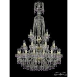 Люстры Большие Bohemia Ivele Crystal Люстра хрустальная 1410/16+8+4/300/XL-130/3d G V7010