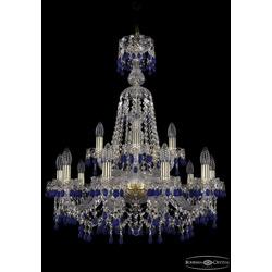 Люстры Bohemia Ivele Crystal Люстра хрустальная 1410/10+5/240/XL-80 G V3001