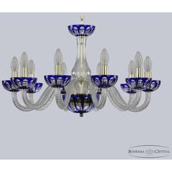 Люстры Bohemia Ivele Crystal Хрустальная люстра 1308/10/240 G Cl/Clear-Blue/H-1H