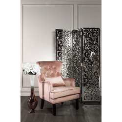 Bohemia Empir Style Кресло велюровое дымчато-розовое (с подушкой)