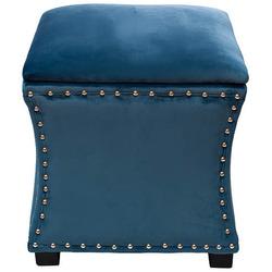 Банкетка открывающаяся велюр синий Garda Decor 24YJ-5005-06466