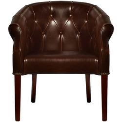 Кресло кожа c PU -коричневая Garda Decor PJC347-PJ044