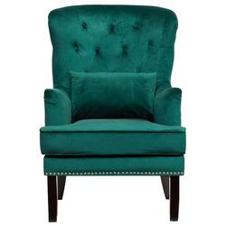 Кресло с подушкой бархат зеленый Garda Decor 24YJ-7004-07342/1
